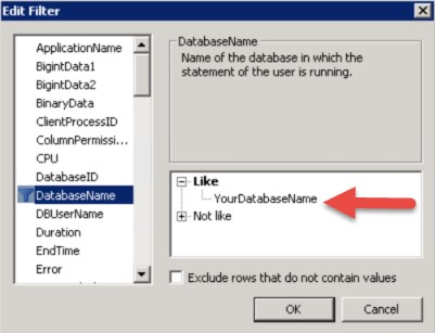 Analyzing SELECT statements using SQL Server Profiler
