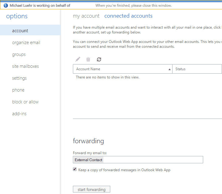 Adding connected accounts