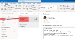 If the email was successful, then the test email will appear in the Sent To person's email Inbox.