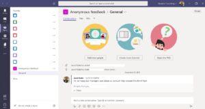 Feedback responses in Microsoft Teams